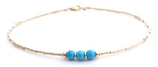 Turquoise Handmade Birthstone Anklet