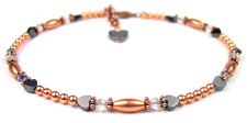 April Copper Beaded Anklets