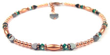 May Copper Beaded Anklets