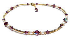 Amethyst Gold Filled Beaded Anklets
