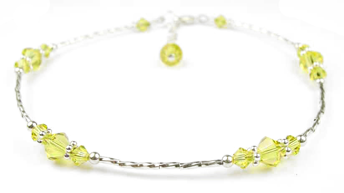 ankle inch htm ank sterling extension a liquid with ss crystal anklet women chain anklets accents one bracelets for beaded genuine b wear austrian above citrine below swarovski or citine silver yellow the