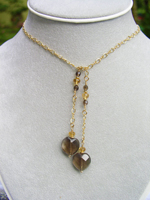 Smokey Quart Faceted Heart Necklace