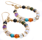 AA Earrings - Twelve Beads to celebrate your Journey!
