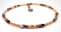 July Copper Beaded Anklets