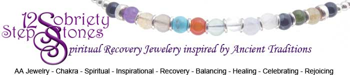 SobrietyStones Alcoholics Anonymous Recovery Jewelry