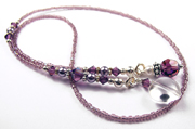February - Amethyst Birthstone Beaded Bookmarks