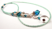 December Blue Zircon Birthstone Beaded Bookmarks