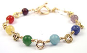 Gold Smooth Stone Every Day Chakra Bracelet