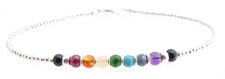 Sterling Silver Chakra Anklet