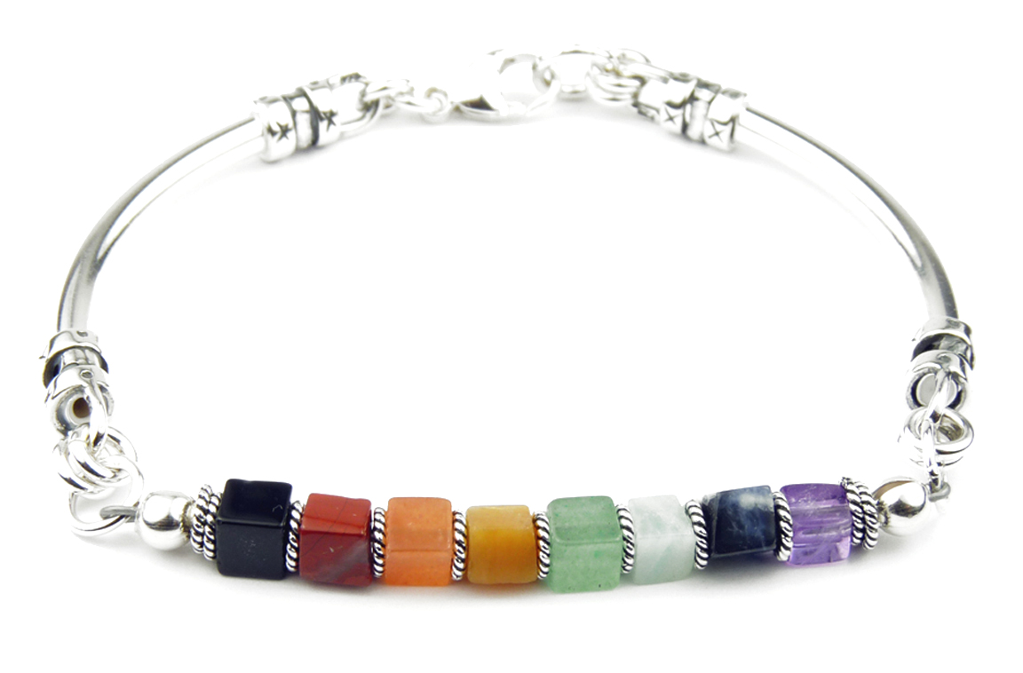 with chakra lava bracelet gemstone product unisex healing cable store