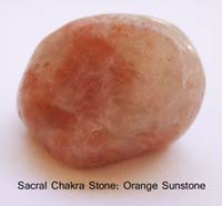 Orange Sunstone Tumbled Nugget Healing Stones
