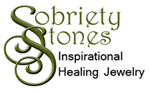 SobrietyStones healing crystal jewelry and Inspirational Jewelry Gifts.