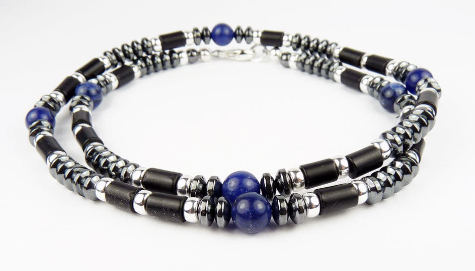 Mens beaded necklaces man healing stone chakra necklace for Men s jewelry earrings