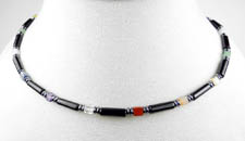 Men's Black Onyx Chakra Necklace